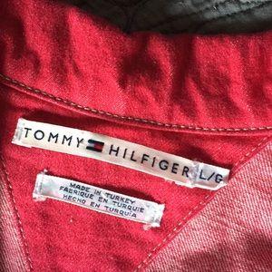 Tommy Hilfiger Jackets & Coats - Tommy Hilfiger Red Denim Jacket